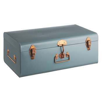 Habitat Trunk Blue Metal Storage Trunk (22 x 57c)