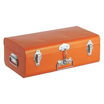 Habitat Trunk Orange Metal Trunk (Width 49cm)