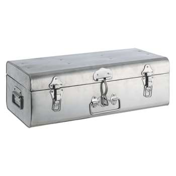 Habitat Trunk Silver Galvanised Storage Box (17 x 49cm)
