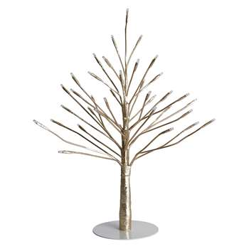 Habitat Twig 36 LED Gold Christmas Tree (H45 x W13.5 x D35cm)
