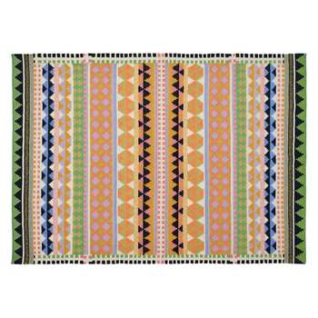 Habitat Vida Large Multi-Coloured Wool Flat Weave Rug (H170 x W240cm)