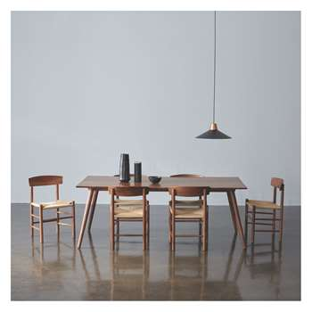 Habitat Vince Dining Set With Vince Walnut Table And 4 Oregan Walnut Dining Chairs