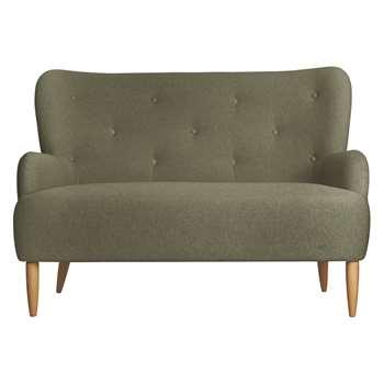 Habitat Wilmot Green Wool Mix 2 Seater Sofa (96 x 139cm)