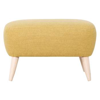 Habitat Wilmot Yellow Wool Mix Footstool (43 x 66cm)