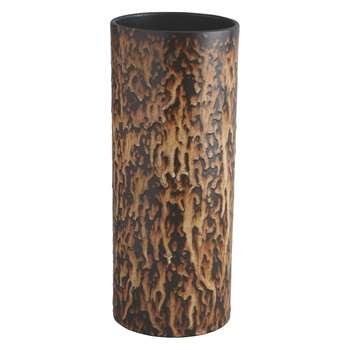 Habitat Withcott Brown Reactive Glaze Ceramic Vase (32 x 13cm)