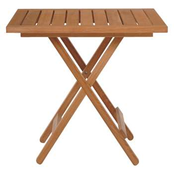 Habitat Zeno Oak Folding Garden Table (75 x 76cm)
