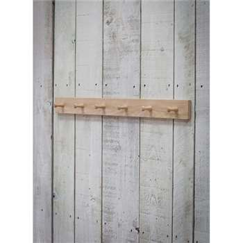 Hambledon 6 Peg Rail - Raw Oak (8 x 80cm)