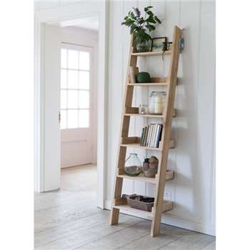 Hambledon Shelf Ladder, Small - Raw Oak (180 x 48cm)