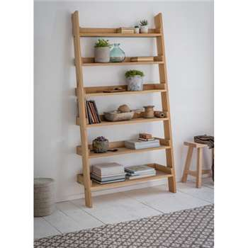 Hambledon Shelf Ladder, Wide - Raw Oak (180 x 96cm)