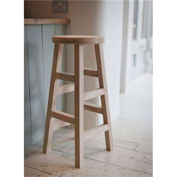 Hambledon Stool, Tall - Raw Oak (80 x 33cm)