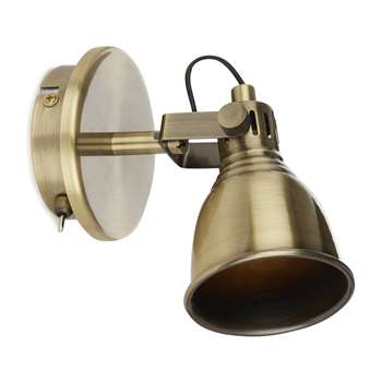 Hamilton Antique Brass Spot Light (15 x 10cm)