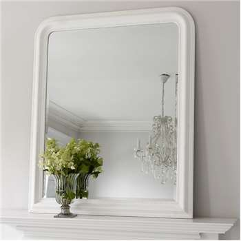 Hampshire Mirror - White Large (H120 x W100cm)