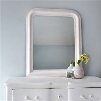 Hampshire Mirror - White Small (H87 x W72cm)