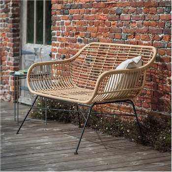 Hampstead Rattan Bench (H83 x W126 x D71cm)