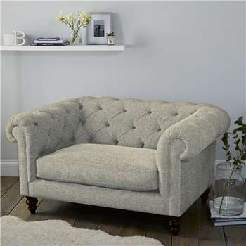 Hampstead Wool Love Seat - Light Grey Wool (H77 x W146 x D103cm)