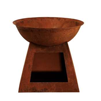 HAMPTON Rust-Effect Metal Brazier