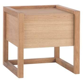Hana Ii Oak 1 drawer bedside table (Width 45cm)