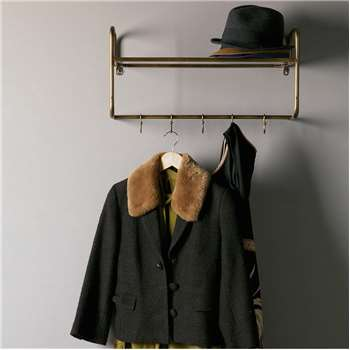 Hanging Coat Rack with Shelf (40 x 63cm)