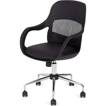 Hank Office Chair, Black (H87 x W62 x D62cm)