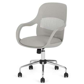 Hank Office Chair, Grey (H87 x W62 x D62cm)