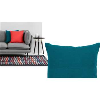 Harbor Textured Cotton Cushion, Blue Coral (45 x 45cm)