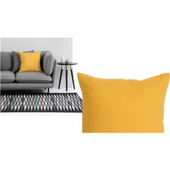 Harbor Textured Cotton Cushion, Mustard (45 x 45cm)