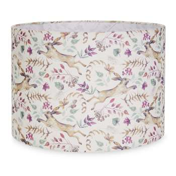 Hare Printed Drum Shade (24 x 35cm)