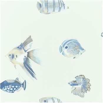 Harlequin Kamanu Wallpaper, Indigo/Pebble 111649 (H1005 x W68.6cm)