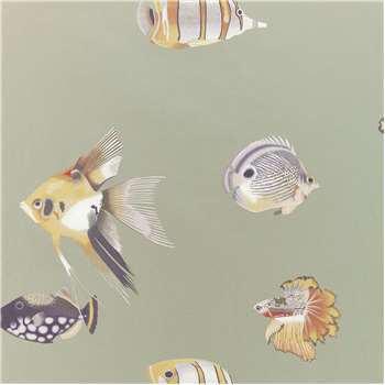 Harlequin Kamanu Wallpaper, Mandarin/Fig 111647 (H1005 x W68.6cm)