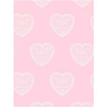 Harlequin Sweet Hearts Wallpaper - Pink, 110539