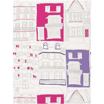 Harlequin Wallpaper, Brighton - Pink / Lilac, 70514