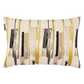 Harlequin Zeal Cushion, Charcoal/Mustard (H40 x W60cm)
