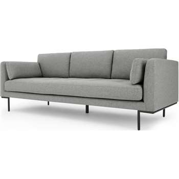 Harlow 3 Seater Sofa, Mountain Grey (H83 x W227 x D89cm)