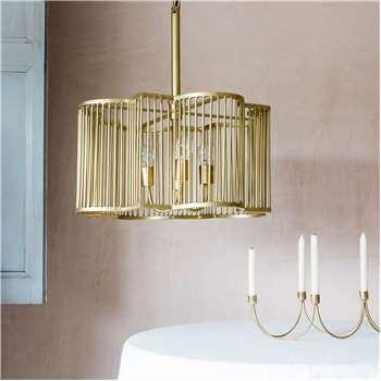 Harlow Large Brass Pendant (H31 x W60 x D60cm)