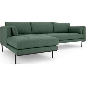 Harlow Left Hand Facing  Chaise End Corner Sofa, Darby Green (H83 x W265 x D165cm)