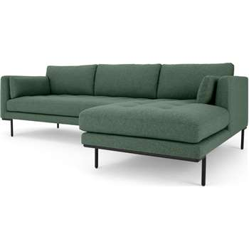 Harlow Right Hand Facing Chaise End Corner Sofa, Darby Green (H83 x W265 x D165cm)