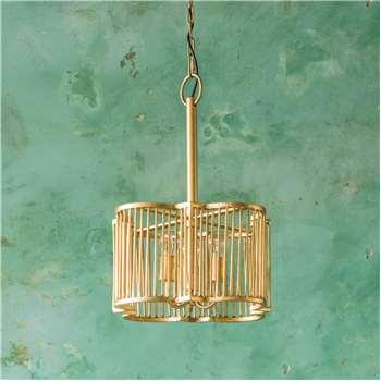 Harlow Small Brass Pendant (H23 x W46 x D46cm)