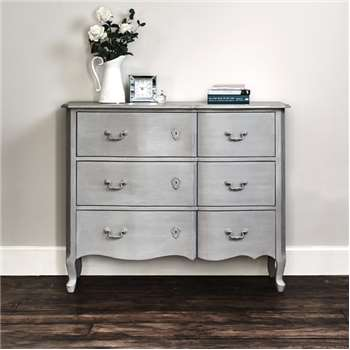 Harper Chest Of Drawers - Grey (H90 x W110 x D40cm)
