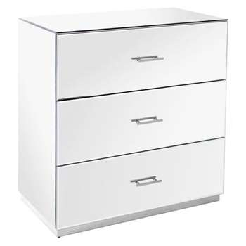 Harper Chest of Drawers – Silver Details (H87 x W86 x D44cm)