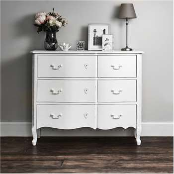 Harper Chest Of Drawers - White (H90 x W110 x D40cm)
