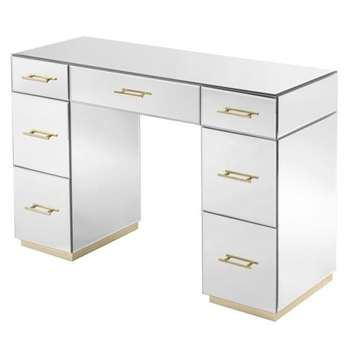 Harper Dressing Table – Champagne Gold Details (H79 x W120 x D44cm)