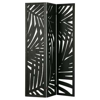 Woood Harper Room Divider - Black (H170 x W120 x D2cm)