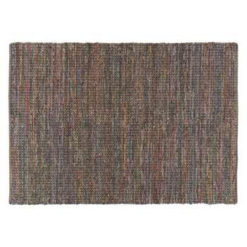 Harrow Medium multi-coloured cotton rug 140 x 200cm