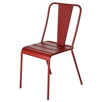 HARRY'S Terracotta Metal Garden Chair (H86 x W45 x D50cm)