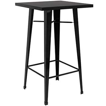 Hartleys Tall Industrial Design Table - Black (100 x 60cm)