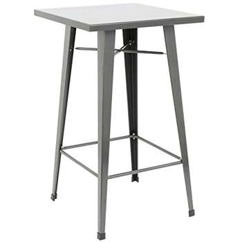 Hartleys Tall Industrial Design Table - Gunmetal Grey (100 x 60cm)