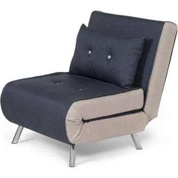 Haru Single Sofa bed, Quartz Blue (78 x 77cm)