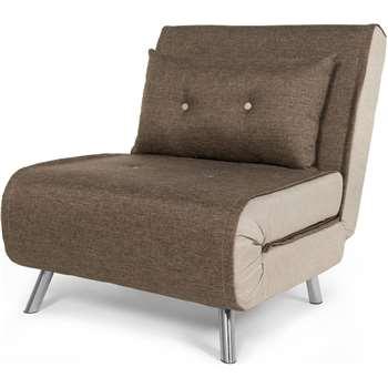 Haru Single Sofa Bed, Woodland Brown (78 x 77cm)