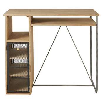 Harvey - 2/3-Seater Bar Dining Table In Solid Fir and Metal (H110 x W120 x D60cm)