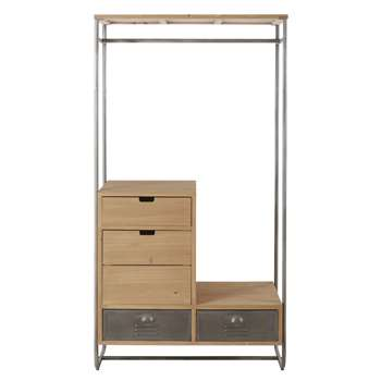 Harvey - Metal 4-Drawer Clothes Organiser (H174 x W90 x D47cm)